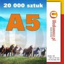 20 000 szt., Ulotki A5