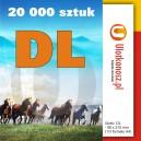 20 000 szt., Ulotki DL