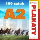 100 szt., Plakaty A2