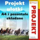 Projekt ulotki - A4 i pozostałe składane