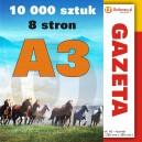 Gazeta A3 - 8 stron - 10 000 sztuk